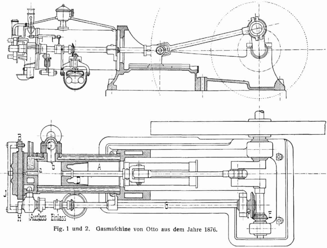 Desain mesin pembakaran Nikolaus Otto