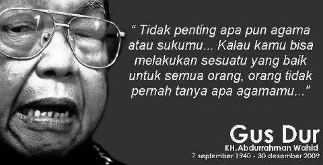 Biografi KH. Abdurrahman Wahid (Gus Dur) - Presiden Indonesia Keempat