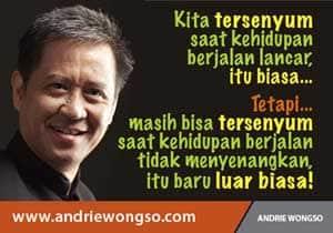 Kata bijak, Biografi Andrie Wongso